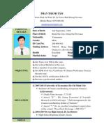 Curriculum Vitae of Phan Thanh Tam