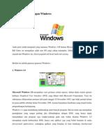 Sejarah Perkembangan Window1