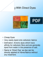 Dyeing With Direct Dyes