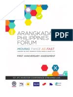 Arangkada Philippines First Anniversary Assessment 2011 (Revised, June 2012)