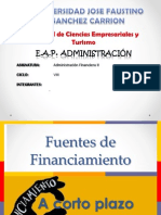 Financiamiento Emp. a Corto Plazo