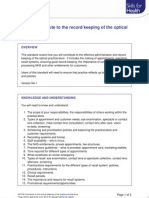Record Keeping of the Optical