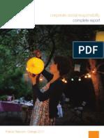 France Telecom Orange Sustainability Report 2011