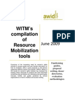 WITMs Compilation of Resource Mobilization Tools