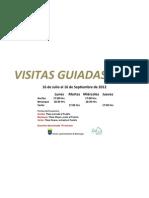 Cartel Visitas Guiadas 2012