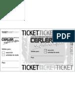 Ticket de Actividades de la Asociación de Empresarios de Cerler