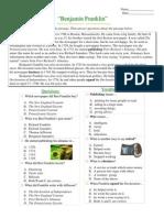 Informational Passages RC - Ben Franklin