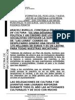 CONTESTACIÓN AL PSOE SOBRE LAS LUNAS