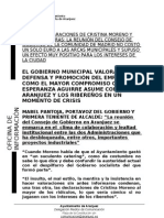 CONTESTACIÓN AL PSOE SOBRE CONSEJO GOBIERNO