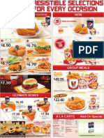 KFC Delivery Menu in SIngapore