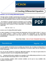 Newton's Law of Cooling Differential Equation