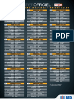 Calendrier Officiel de La Pro b - 2012-2013
