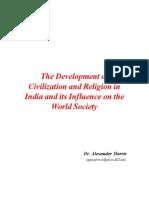 Development of Civilzation and Religion in India