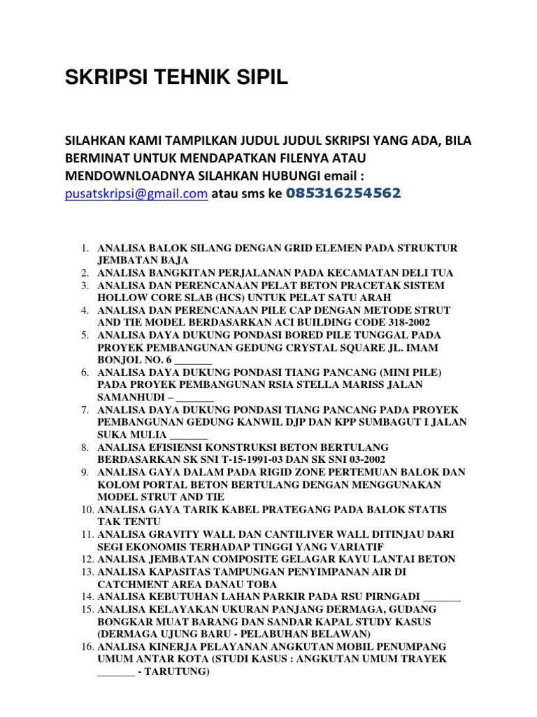 Jurnal Teknik Sipil Transportasi Pdf Lasopaadvance