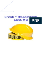 Certificate IV - Occupational Health & Safety (