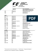2012 Formula 1 German Grand Prix Timetable