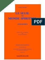 Seuil Monde Spirituel RS OG 1923