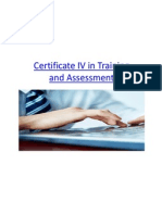 Certificate IV in Training and Assessment