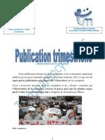 Publication Trimestrielle de Transparency Maroc Edition de Juin 2012
