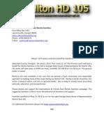 Press Release Hamilton HD 105 071912