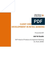 Client Centric Product Development in Retail Banking by Akif Shaikh
