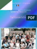 """eTwinning projet """"MATHS RIDDLES"""", presentations FR"""