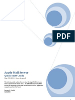 Setup Apple Mail Server