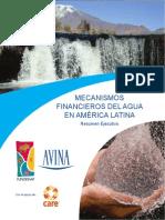 Mecanismos Financieros Del Agua Version Reducida