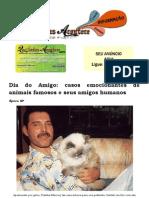 Dia Do Amigo Casos Emocionantes de Animais Famosos e Seus Amigos Humanos