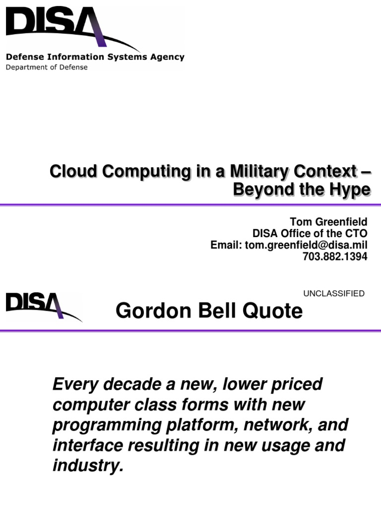 Cloud Computing Military Context | Software As A Service