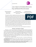 An Empirical Discourse Analysis on Correlations Between the Minimum Wage and Domestic Private Investment