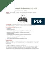 Reforma Sistema Privado de Pensiones en El Peru Ley 29903