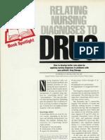 Relating Nursing Diagnoses to Drug Therapy
