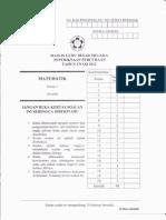 Percubaan UPSR Matematik Kertas 2 Melaka 2012