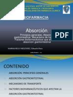 Biofarmacia - Absorción Gastrointestinal