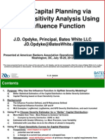 J.D. Opdyke - ABA Presentation - Better Capital Planning via Exact Sensitivity Analysis Using the Influence Function - 07-20-12
