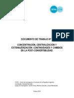 Cifra concentracion extranjerización y cambios