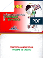 CLÁUSULAS ABUSIVAS EN LOS CONTRATOS DE TARJETA DE CRÉDITO - JULIO 2012