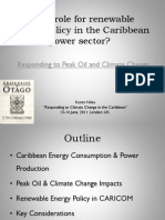 Keron Niles, What Role for Renewable Energy Policy in the Caribbean Power Sector, 6-2011