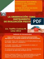 La observación como instrumento de evaluación psicomotriz