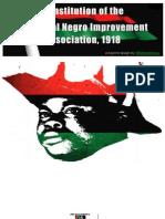 Constitution of the Universal Negro Improvement Association 1918