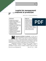 Managementul Operational Productie