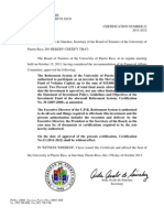 UPR certificación 22 2011-2012 inversión Sistema de Retiro