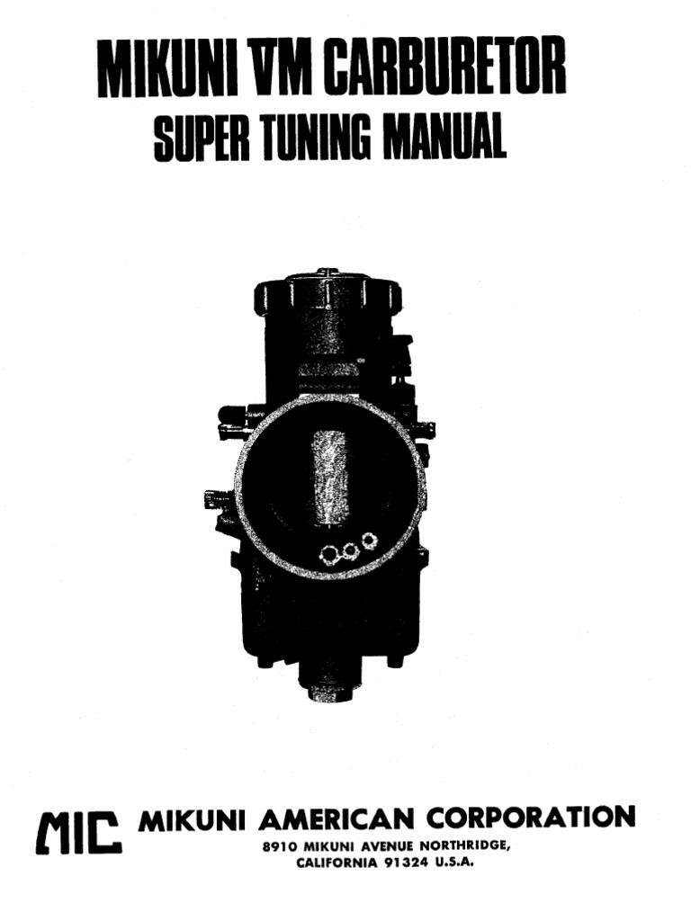 Mikuni Vm Carburator Yamaha Rxz Wiring Diagram Pdf