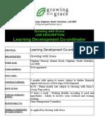 Learning Development Co-Ordinator - Final