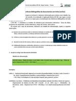 Normas Referência Bibliográfica Documentos online