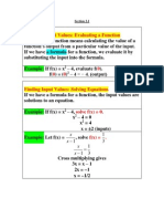 Summer 2012 Precalculus Section 2.1 Lecture Notes