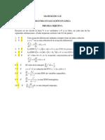Solucionario de 2 evaluación de matemática III universidad señor de sipan