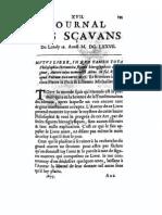 Comment du Mutus Liber dans le Journal des Scavantes