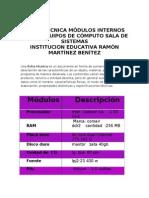 Ficha Tecnica y Matriz de Los Modeulos Internos Un Computador
